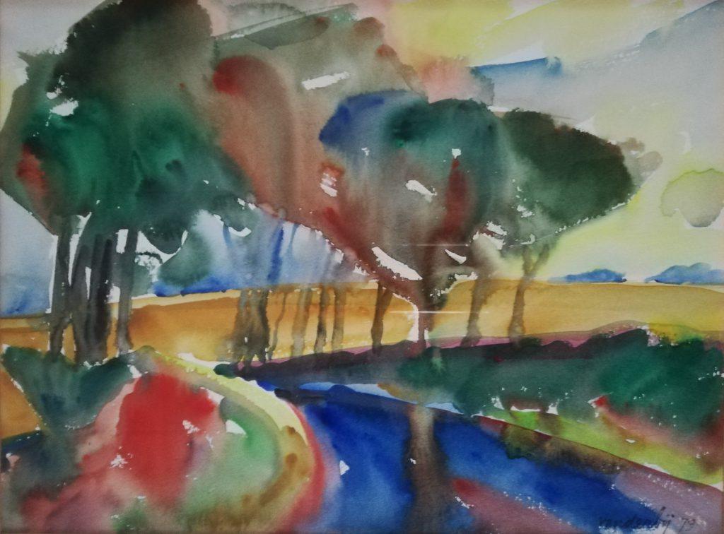 5 Op 'e klaai – 1979 – aquarel